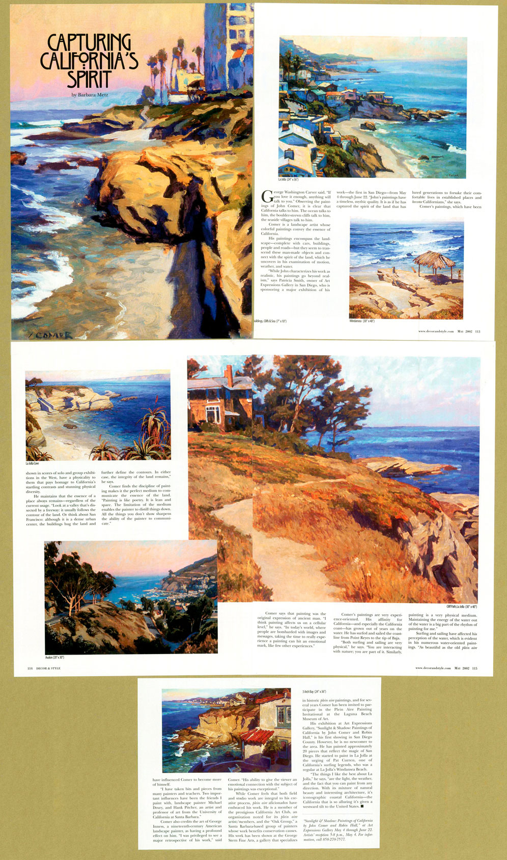 Capturing California's Spirit magazine article